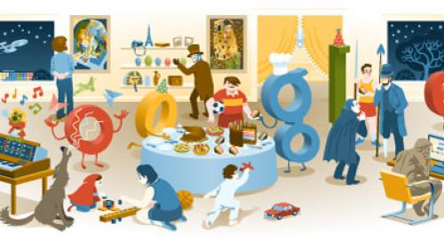 Felice anno nuovo: buon anno 2012, ecco il Doodle di Google